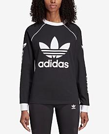 adidas Originals Cotton Logo Long-Sleeve Shirt
