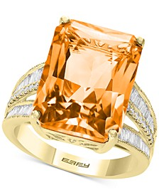 EFFY® Citrine (15-1/2 ct. t.w.) & Diamond (3/8 ct. t.w.) in 14k Yellow Gold (Also Available in Green Quartz, Pink Amethyst, and Blue Topaz)