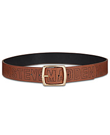 Steve Madden Perforated Logo Pants Belt