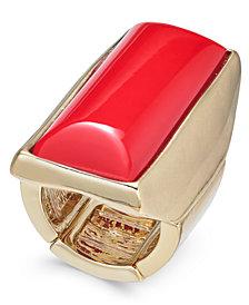 Thalia Sodi Gold-Tone Rectangle Stone Stretch Ring, Created for Macy's