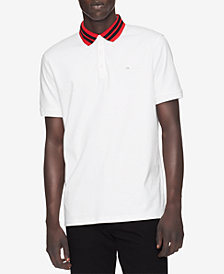 Calvin Klein Men's Double Bar Tipped Polo