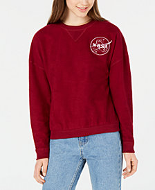 Freeze 24-7 Juniors' NASA Embroidered Sweatshirt