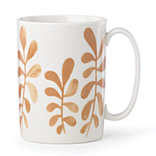 kate spade new York Sienna Lane Leaves Accent Mug