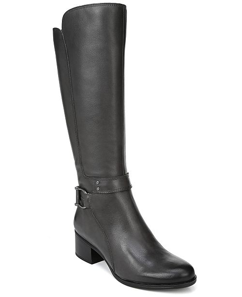 e8dbc2a1ae66 Naturalizer Dane Wide Calf Riding Boots   Reviews - Boots - Shoes ...