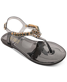 XOXO Joanie Embellished Thong Jelly Sandals