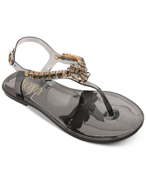 XOXO Joanie Embellished Thong Jelly Sandals   Reviews - Sandals ...