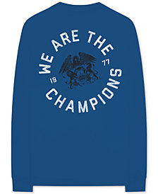 Queen We Are The Champions Long-Sleeve Men's Graphic T-Shirt