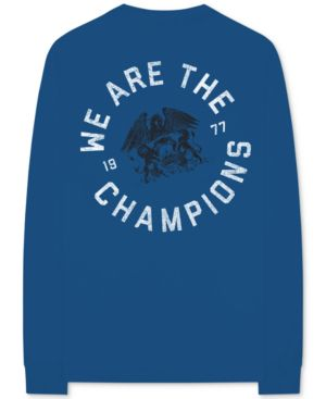 BRAVADO Queen We Are The Champions Long-Sleeve Men'S Graphic T-Shirt in Navy