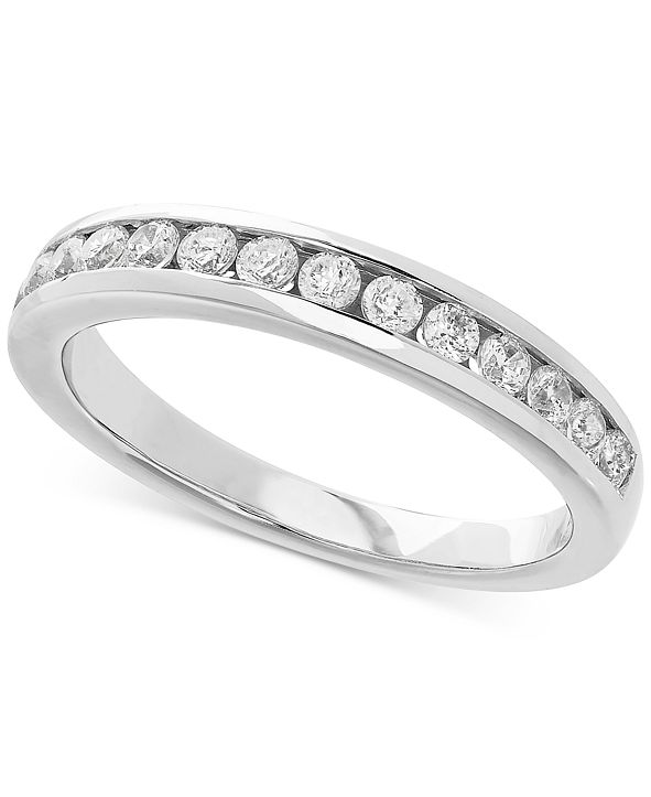 Grown With Love Lab Grown Diamond Band (1/2 ct. t.w.) in 14k White Gold