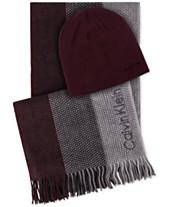 d314b1e9921 Calvin Klein Men s Hat   Ombré Scarf Set