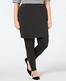 Eileen Fisher Plus Size Skirted Ankle Legging