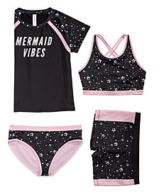 Ideology Big Girls Star-Print Swim Tops & Bottoms, Created for Macy's