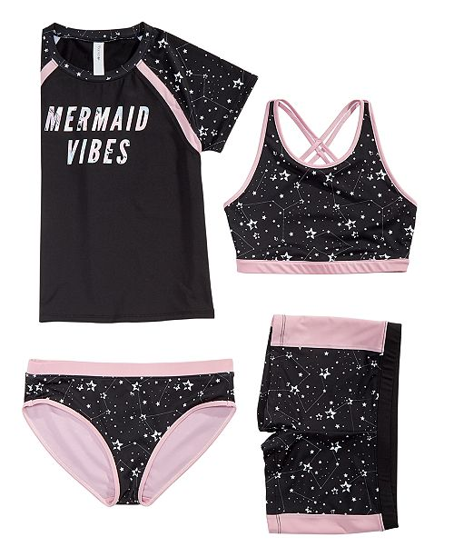 Ideology Big Girls Star-Print Swim Tops & Bottoms, Created for Macy's