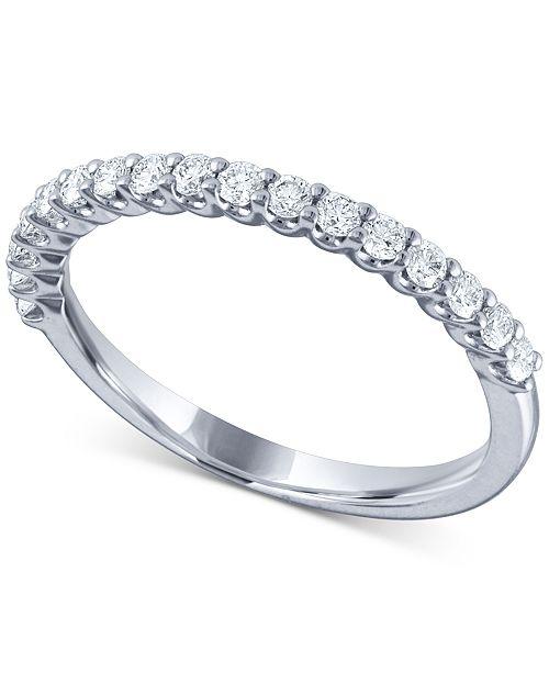 e8c60c388cc3 Macy s Diamond Band (1 3 ct. t.w.) in 14k White Gold - Rings ...