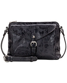 Patricia Nash Avellino Laser Floral Leather Crossbody
