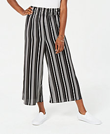 Ultra Flirt Juniors' Cropped Striped Pants