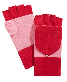 kate spade new york Colorblocked Pop-Top Mittens