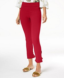 INC Ruffled-Hem Ankle Skinny Pants, Created for Macy's