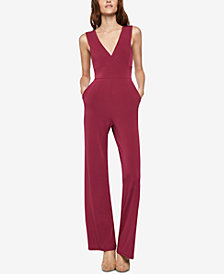 BCBGeneration V-Back Wide-Leg Jumpsuit