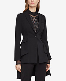 BCBGMAXAZRIA High-Low Peplum Blazer