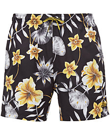 BOSS Men's Floral-Print Swim Shorts