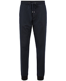 BOSS Men's Relaxed-Fit Virgin Wool Cuffed Chino Pants