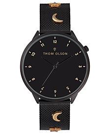 Thom Olson Women's Black Mesh Bracelet Watch 40mm