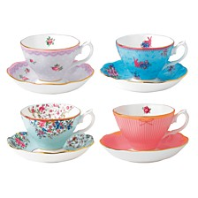 Royal Albert Candy Set/4 Cup and Saucers