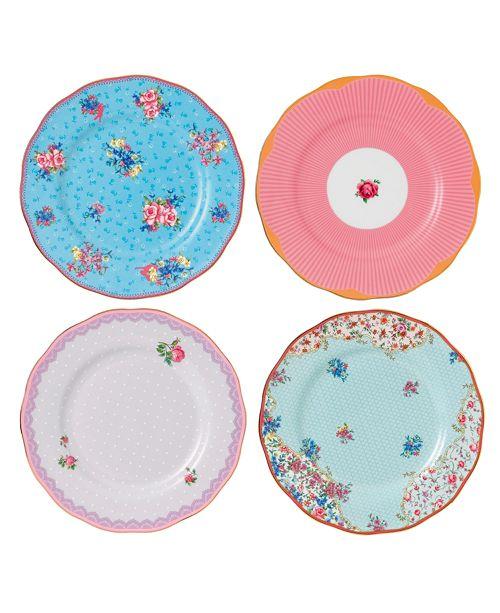 Royal Albert Candy Set/4 Mix Plates