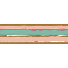 Tempaper Painted Stripe Self-Adhesive Borders