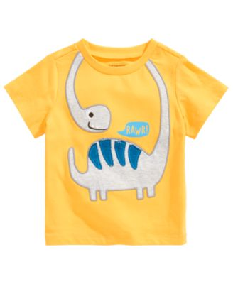 First Impressions Baby Boys Yellow Tee Shirt Elephant