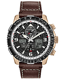 Citizen Eco-Drive Men's Analog-Digital Promaster Skyhawk A-T Brown Leather Strap Watch 46mm - A Limited Edition