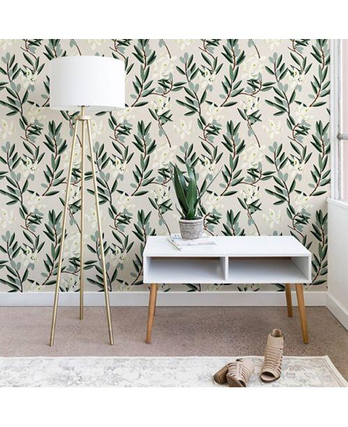 Deny Designs Holli Zollinger Olive Bloom 2'x8' Wallpaper