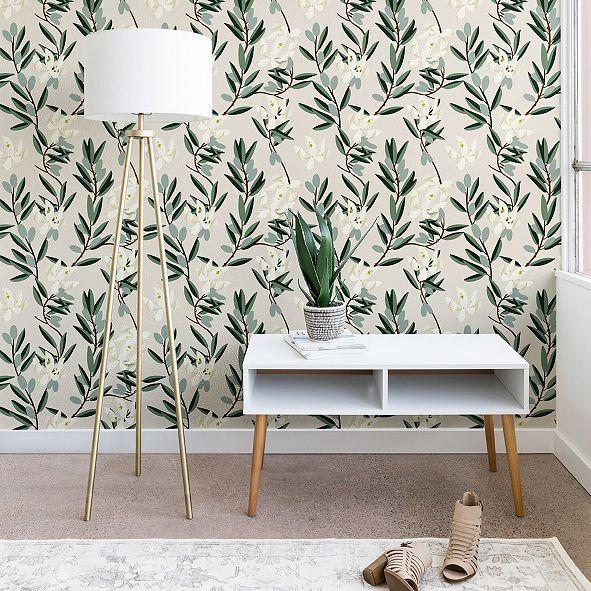 Deny Designs Holli Zollinger Olive Bloom 2'x4' Wallpaper