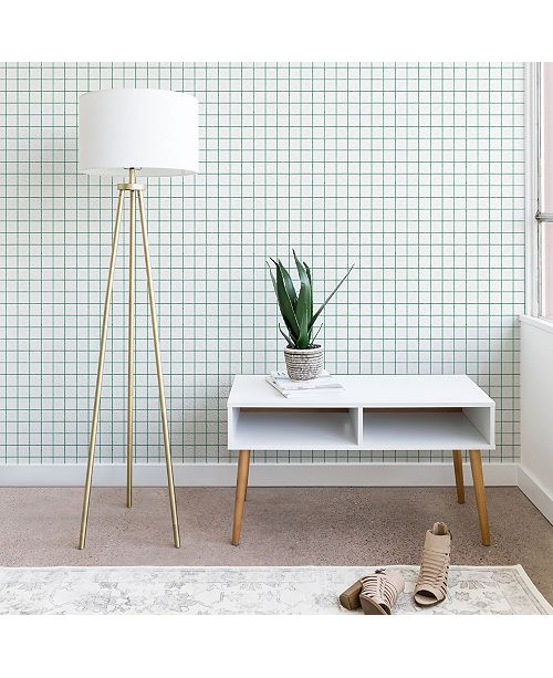 Deny Designs Holli Zollinger French Grid Emerald 2'x4' Wallpaper