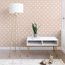 Deny Designs Caroline Okun Pale Pink Spring Bulbs 2'x10' Wallpaper