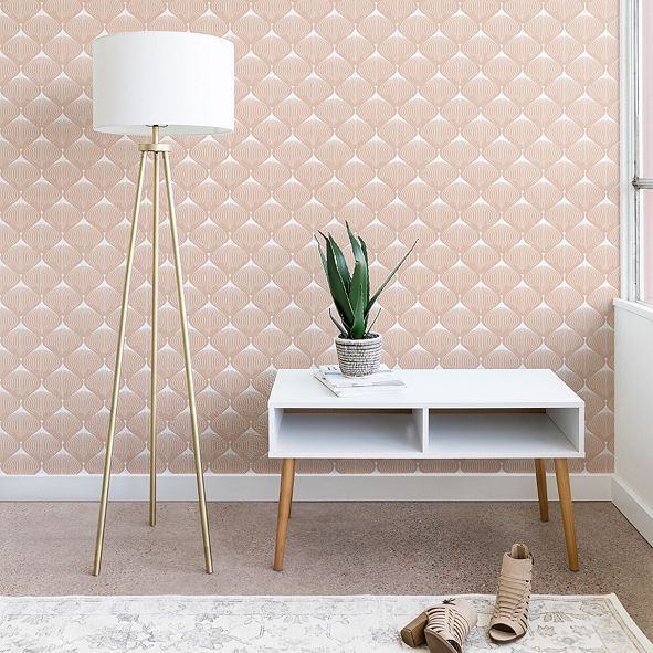 Deny Designs Caroline Okun Pale Pink Spring Bulbs 2'x8' Wallpaper