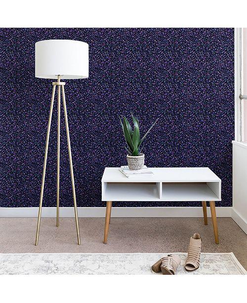 Deny Designs Ninola Design Cosmic Circles Ultraviolet Dots Bubbles 2'x4' Wallpaper
