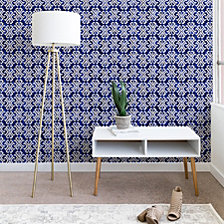 Deny Designs Schatzi Brown Justina Criss Cross Blue Wallpaper