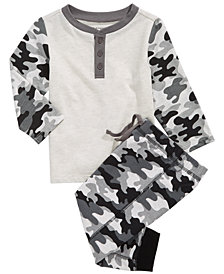 First Impressions Baby Boys Camouflage T-Shirt & Jogger Pants, Created for Macy's