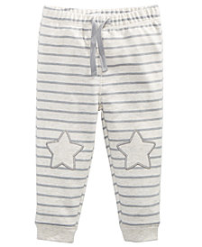 First Impressions Baby Boys Star-Patch Jogger Pants, Created for Macy's