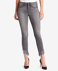 WILLIAM RAST Fringe-Hem Skinny Jeans