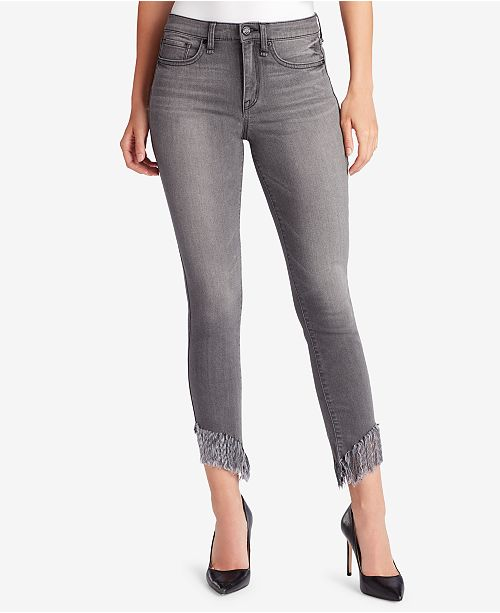 WILLIAM RAST Fringe-Hem Skinny Jeans