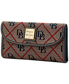 Dooney & Bourke Signature Continental Wallet, Created for Macy's