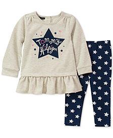 Tommy Hilfiger Baby Girls 2-Pc. Peplum Tunic & Star-Print Leggings Set