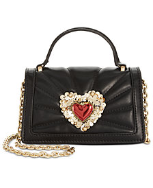 Betsey Johnson Hearts Top-Handle Crossbody
