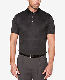 PGA TOUR Men's Broken Windowpane Polo