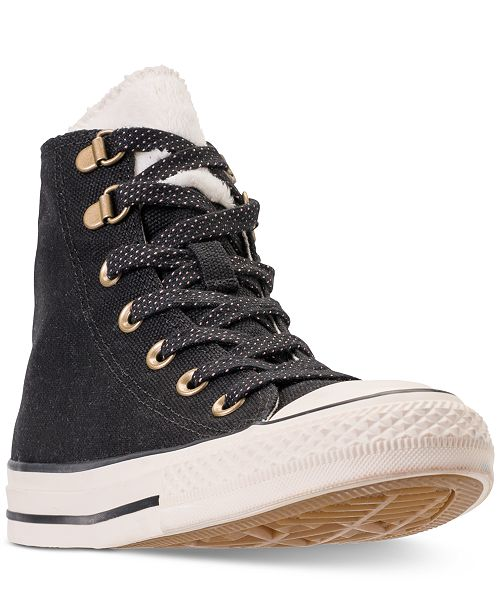 3cbb5906cc88e9 ... Converse Women s Chuck Taylor All Star Furst Love High Top Casual  Sneakers from Finish ...