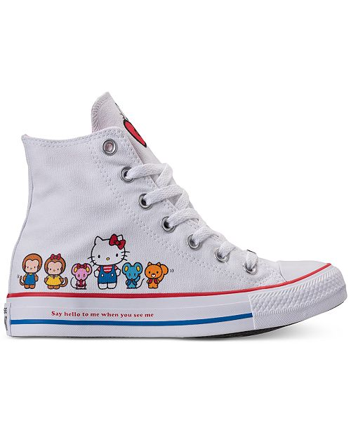 79edc427cbc2 ... Converse Women s Chuck Taylor High Top Hello Kitty Casual Sneakers from  Finish ...