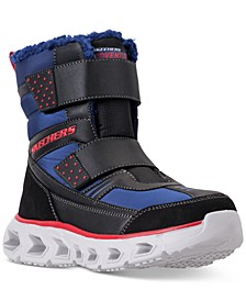 Little Boys' S Lights: Hypno-Flash 2.0 - Street Breeze Light Up Adjustable Strap Boots from Finish Line